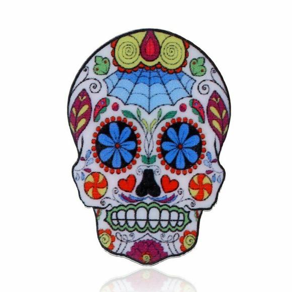 Jewelry - SUGAR SKULL PIN / BROOCH - Latin Jewelry Calavera